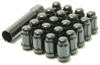 Closed End Lug Nuts - Deep Black 12x1.25