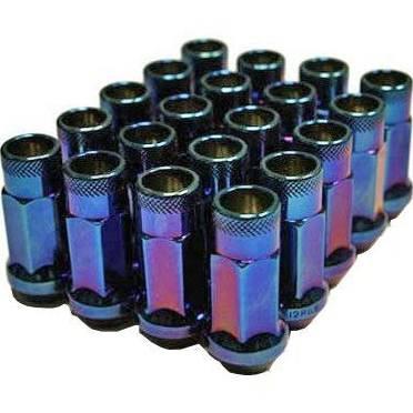 Muteki SR48 Open End Lug Nuts - Burning Blue Neon