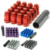 Muteki Closed End Lug Nuts - Red