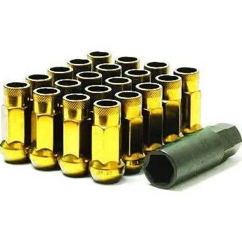 Muteki SR48 Open End Lug Nuts (Yellow Chrome) 12x1.50 48mm