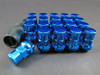 MUTEKI SR35 CLOSE END LUG NUTS W/LOCK SET - BLUE 12X1.50 35MM
