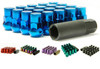 Muteki SR35 Close End Lug Nuts w/ Lock Set - Blue