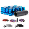 Muteki SR35 Lug Nut and Lock Set - Blue (Closed Ended)