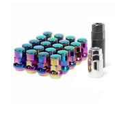 WHEEL MATE MUTEKI SR35 CLOSE END LUG NUTS W/ LOCK SET - NEON 12X1.25 35MM