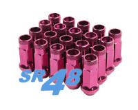 Muteki SR48 Open End Lug Nuts - Pink