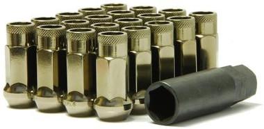 Muteki SR48 Open End Locking Lug Nuts in Titanium 12x1.25