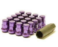 Muteki SR35 Close End Lug Nuts w/ Lock Set - Purple
