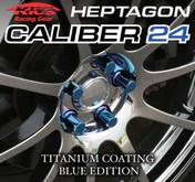 Titanium Blue Caliber Lug Nut