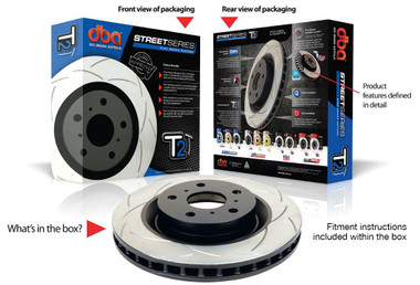 T2 Street Series Rotor; Unidirectional Slotted Rotor