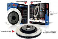 T2 Street Series Rotor; Uni-Directional Slotted Rotor
