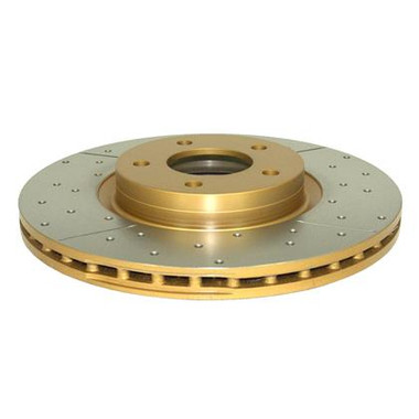 Street Series Rotor; Cross Drilled/Slotted Uni-Directional Rotor
