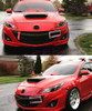 Mazda 3 Accessories | Headlight Eyelids red 27A