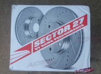 Hawk 07-13 Mazdaspeed 3 - Sector 27 Rotors w/ HPS 5.0 Pads Kit