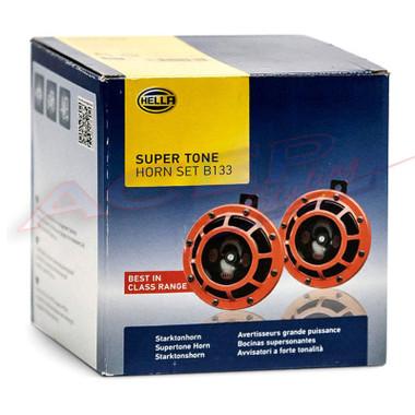 HELLA Red Super Tone Dual Car Horn