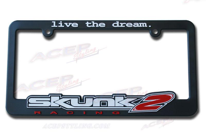 SKUNK2 Plastic License Plate Frame subaru, mazda, scion, nissan, toyoya