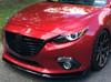 Meroki ZR5 Headlight Armor eyelid fits 2014, 2015, 2016 Mazda3 hatchback / sedan