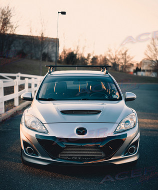 Acepstyling NEUROTOXIN armor on Mazda3 black painted grill