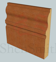 327 Oak Skirting Board - 3m Lengths