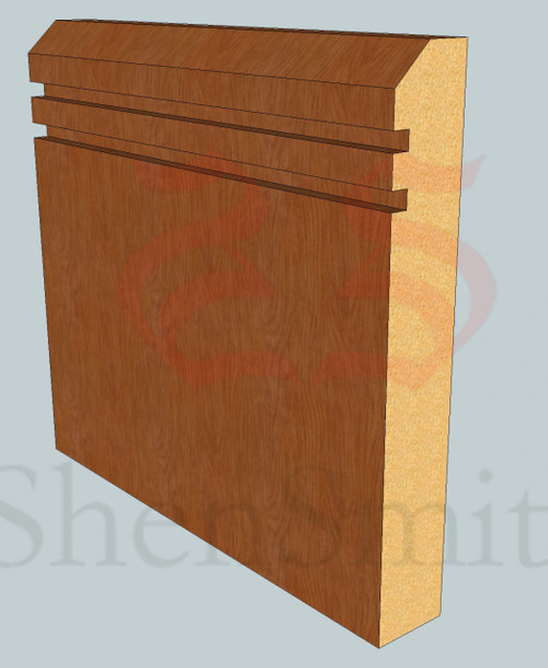 45-Rebated-2 Oak Skirting Board - 3m Lengths