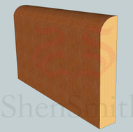 Bullnose Oak Skirting Board - 3m Lengths