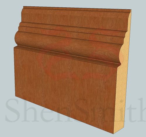 Antique Oak Skirting Board - 2.4m Lengths