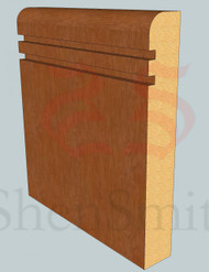 Bullnose-Rebated-2 Oak Skirting Board - 2.4m Lengths
