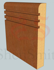 Bullnose-Rebated-3 Oak Skirting Board - 2.4m Lengths