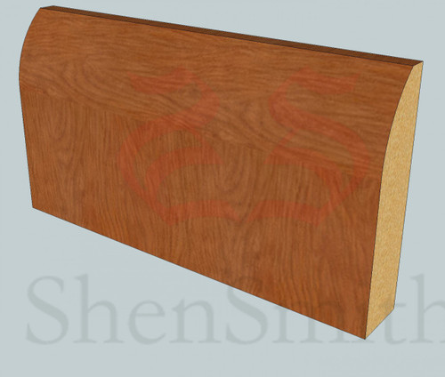 Round Oak Skirting Board - 2.4m Lengths