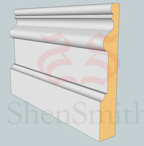 2059 MDF Skirting Board - 3m Lengths