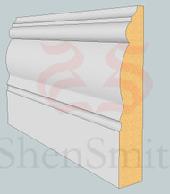2305 MDF Skirting Board - 3m Lengths