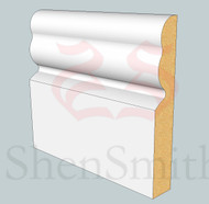 2513 MDF Skirting Board - 3m Lengths