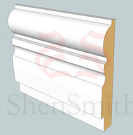 323 MDF Skirting Board - 3m Lengths