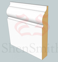 324 MDF Skirting Board - 3m Lengths