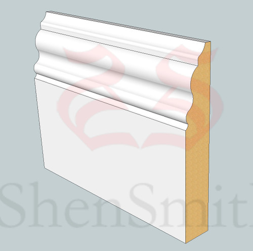 330 MDF Skirting Board - 3m Lengths