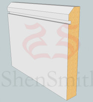 45-Rebated-1 MDF Skirting Board - 3m Lengths