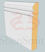 45-Rebated-2 MDF Skirting Board - 3m Lengths