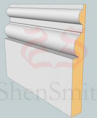 Belmoral MDF Skirting Board - 3m Lengths