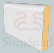 Bullnose MDF Skirting Board - 3m Lengths
