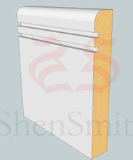 Bullnose-Rebated-2 MDF Skirting Board - 3m Lengths