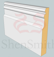 Colonial MDF Skirting Board - 3m Lengths