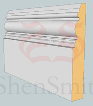 Devon MDF Skirting Board - 3m Lengths