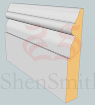 Georgian MDF Skirting Board - 3m Lengths