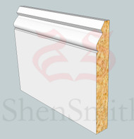 Ogee-3 MDF Skirting Board - 3m Lengths