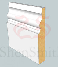 Ogee-4 MDF Skirting Board - 3m Lengths