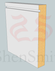 Rebated-1 MDF Skirting Board - 3m Lengths