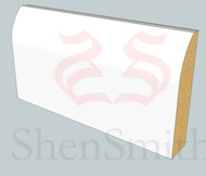 Round MDF Skirting Board - 3m Lengths