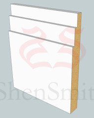 Step MDF Skirting Board - 3m Lengths