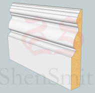 Victorian MDF Skirting Board - 3m Lengths
