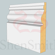 Ward MDF Skirting Board - 3m Lengths