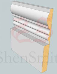 Wessex MDF Skirting Board - 3m Lengths